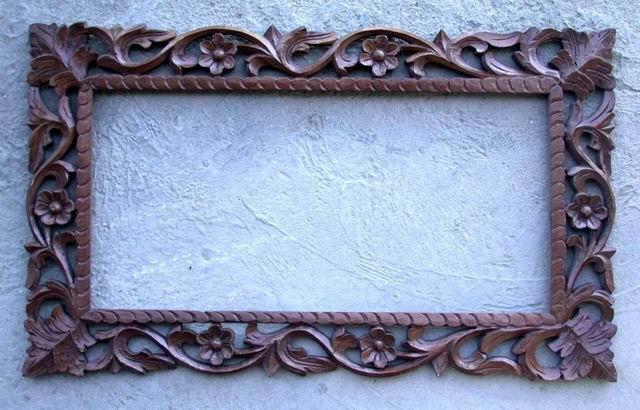 Marco de madera tallada - Marco de madera tallada | 18B Subastas ...
