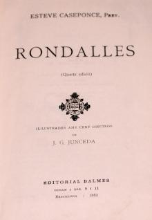 Subastas - LIBRO 'RONDALLES'