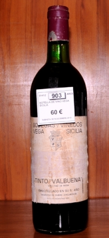 Subastas - BOTELLA DE VINO VEGA SICILIA