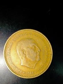 Moneda 1 peseta de Francisco Franco año 1966 con estrella del 71. En perfecto estado