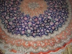 Alfombra de seda persa redonda - Ghom