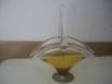 Antigua cesta de cristal soplado