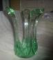 Centro de cristal color verde hagua