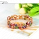 Bracelets & Bangles 2015 New Colorful AAA Zircon Charm Bracelet 18K Gold Plt Women Bracelet Fashion Jewelry Pulseira Feminina